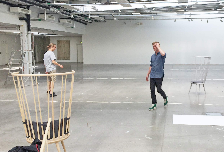 Kaspar and Carl at Konstfack